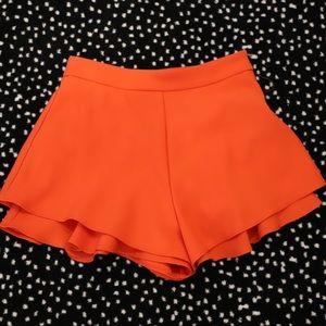 Zara orange skort